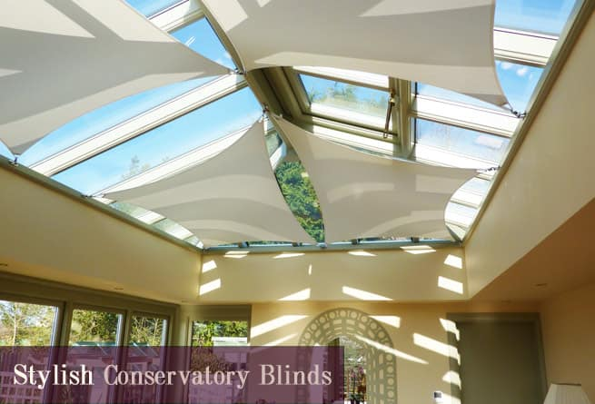 An example of our conservatory blinds